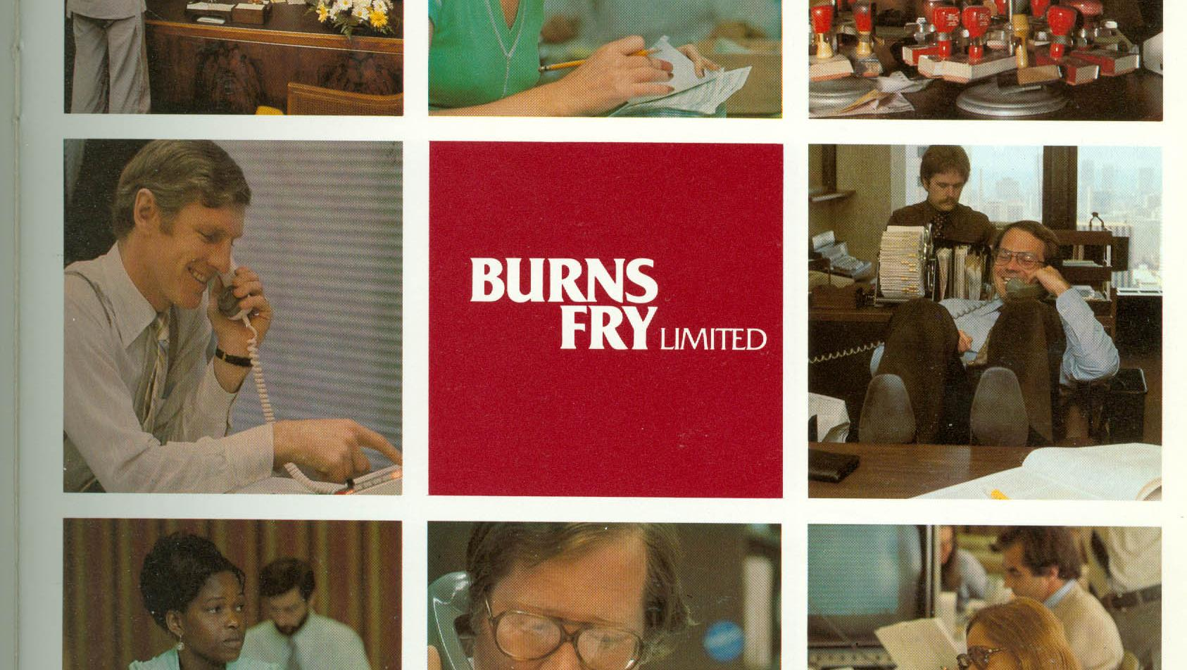 Cover for 1976 Annual Report of Burns Fry.
